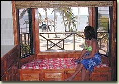captain morgan's retreat, san pedro, ambergris caye, belize, inside view
