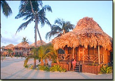 captain morgan's retreat, san pedro, ambergris caye, belize, sunset
